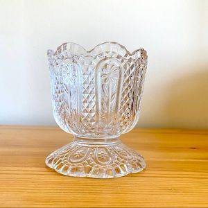 Vintage Avon Daisy & Diamonds candy dish glassware